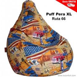 PUFF PERA XL RUTA 66